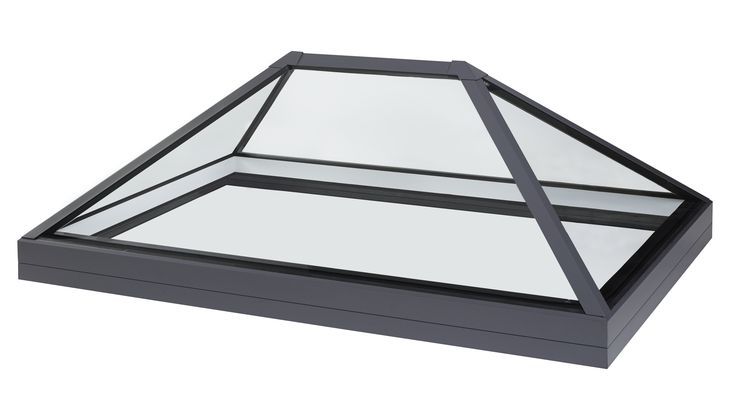 Structurally bonded roof lantern rooflight and skylights for flat roof applications. Frameless glass roof light design with prices from £1025.
