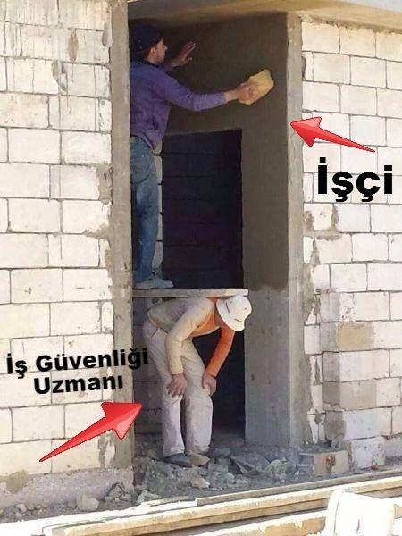 İşçi ve iş güvenliği uzmanı.  #mizah #matrak #komik #espri
