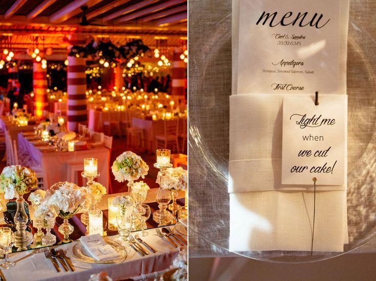 A fabulous wedding menu for a fabulous wedding dinner ! ! !