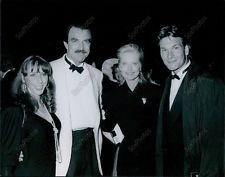 CA207 1989 Tom Selleck Jilly Mack Patrick Swayze & Wife Lisa Portrait Photo