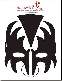 1000 ideas about gene simmons makeup on pinterest kiss for Kiss mask template