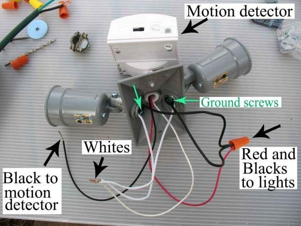 motion sensor wiring diagram  motion lights motion