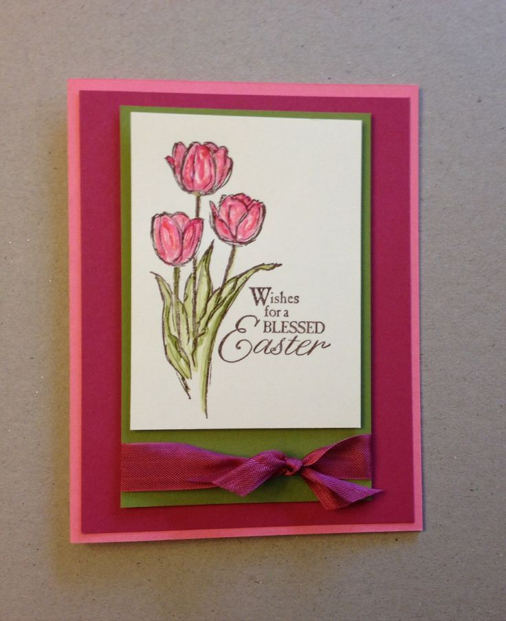 Stampin Easter Card Ideas | Stampin Up! Blessed Easter stamp set. Design: Nicole Notch.