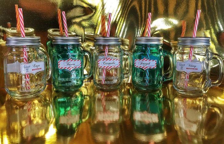 Personalised Mason Jars 2014  www.facebook.com/MariasDesignerCreations. Photo Credit: Cathy Haes