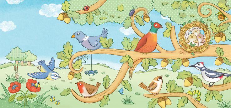 birds, tree, nest, kids book, kate daubney