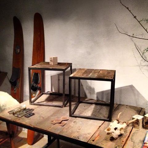 inspiration to industral table, could be a IKEA PS 2012 coffee table