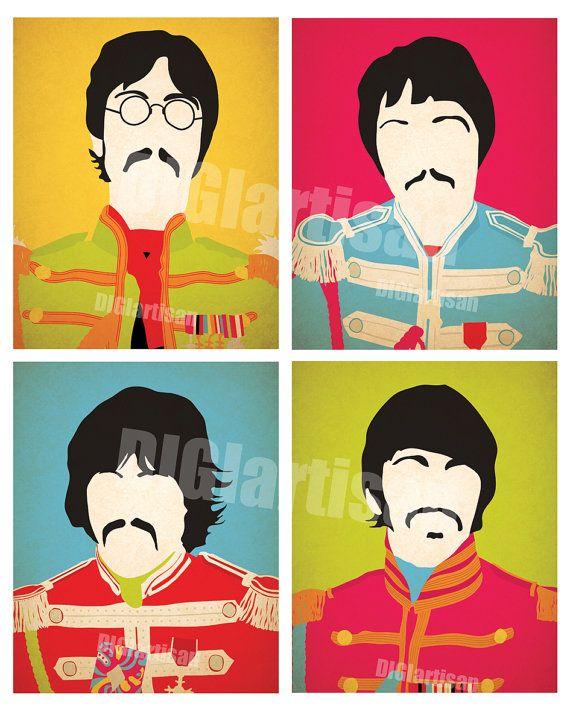 Les Beatles Sgt. Peppers définir estampe de 8 x 10 par DIGIartisan