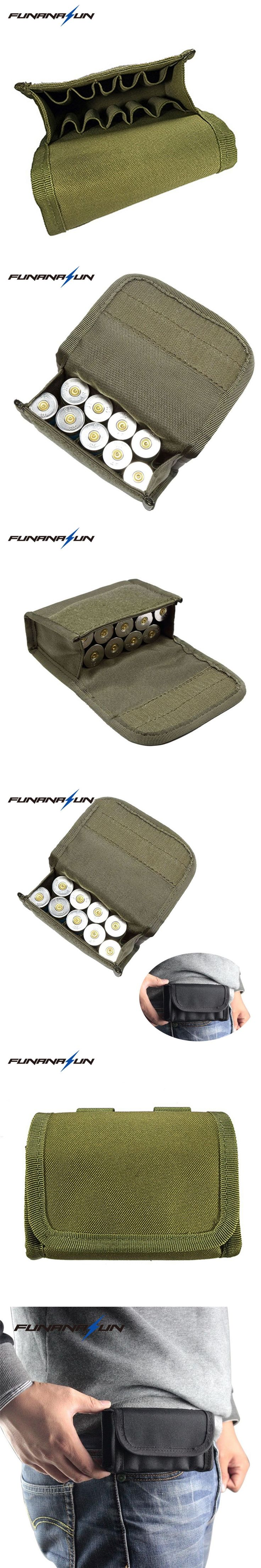 10 Round Molle Shotgun Shotshell Reload Holder Molle Ammo Pouch For 12 Gauge/20G Tactical Paintball Portable Mini Bullet Case