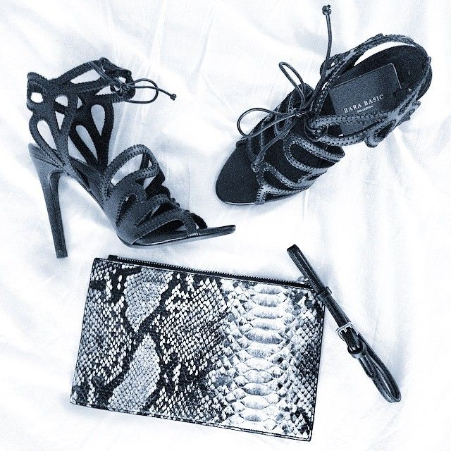 Zara shoes and Mango clutch. From Instagram : val_let credit photo