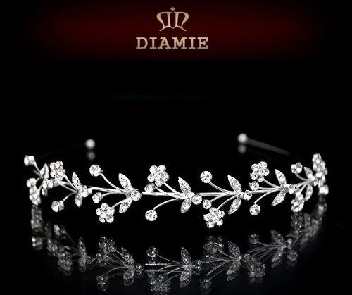 AD265 DIAMIE Diadem Strass Tiara Braut Hochzeit Haarschmuck: Amazon.de: Spielzeug