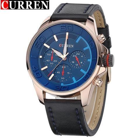Curren Quartz Mens Watches Waterproof - AuhaShop Men's Watch Affordable Cheap Fashion Products Website blue