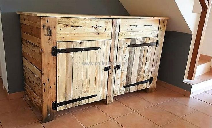 upcycled wood pallet side table plan