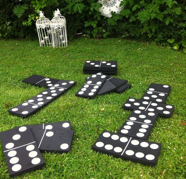 giant dominoes for backyard family fun