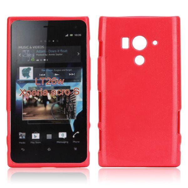 Glitter Shell (Punainen) Sony Xperia Acro S Silikonisuojus