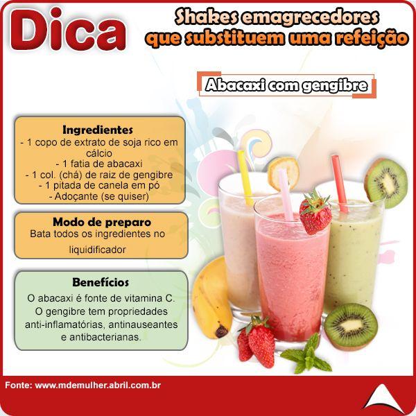 QUEM DISSE QUE FAZER EMAGRECER É DIFÍCIL ??  SEPARAMOS UMA SÉRIE DE SHAKES QUE SUBSTITUEM UMA REFEIÇÃO, SUPER PRÁTICOS DE DELICIOSOS PRA VOCÊ !!!  A DE HOJE É ABACAXI COM GENGIBRE !!  FIQUE DE OLHO EM NOSSAS POSTAGENS :b  #shake #emagrecer #fitness #dieta #percapeso #segundafeira #eucurtoatenas