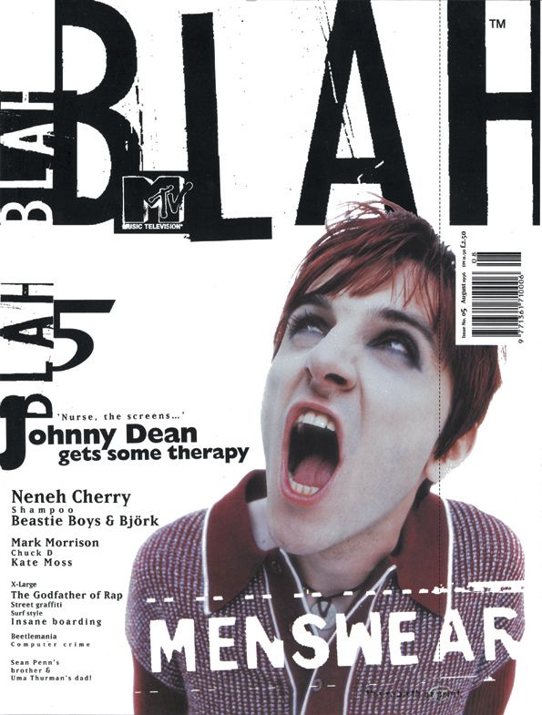 Rebelious subject, shaky text, hinting t grunge. A music magazine as it should be, at least for this issue.