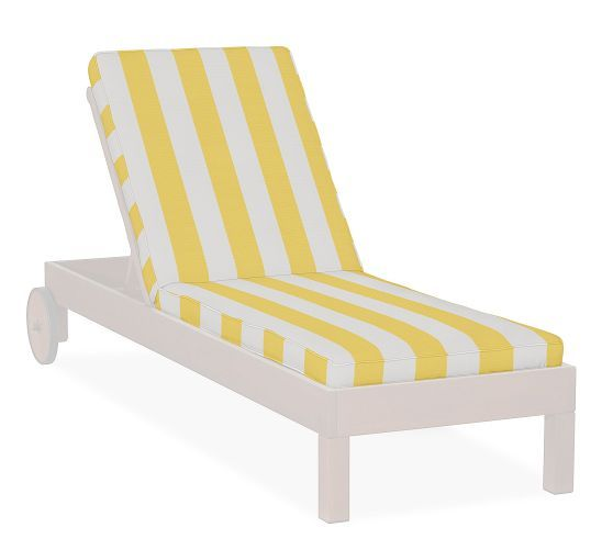 Chaise Cushion - Awning Stripe Sunbrella® | Pottery Barn | AIMEES OUTDOOR OASIS | Pinterest | Chaise cushions Outdoor chaise cushions and Barn  sc 1 st  Pinterest : pottery barn chaise cushion - Sectionals, Sofas & Couches