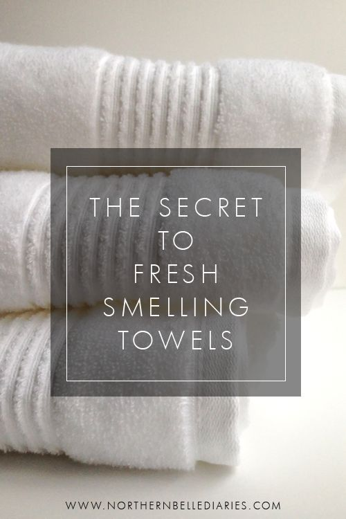 The Secret to Fresh Smelling Towels - How using baking soda and vinegar will give you the cleanest smelling towels ever!