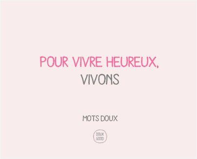 Mots doux by Doux Good : pour vivre heureux, vivons. #douxgood #motsdoux #cosmétiques #bio #naturel