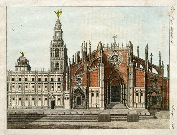 Sevilla la catedral dibujo arquitectura en espa a - Cristalerias en sevilla ...