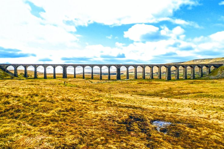 The 24 arch Ribblehead Viaduct across Batty Moss, North Yorkshire, England. I took this in April 2015 it was a place I had wanted to visit for a while and finally got the chance so took quite a number of pictures of the viaduct and nearby Ribblehead Railway Station. This was taken from about a mile north of the viaduct. More of my pictures and information can be seen at, www.colingreenphotography.blogspot.co.uk