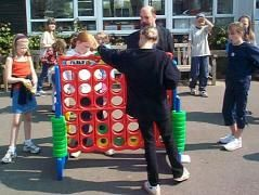Super-sized Connect Four! Playground games in England