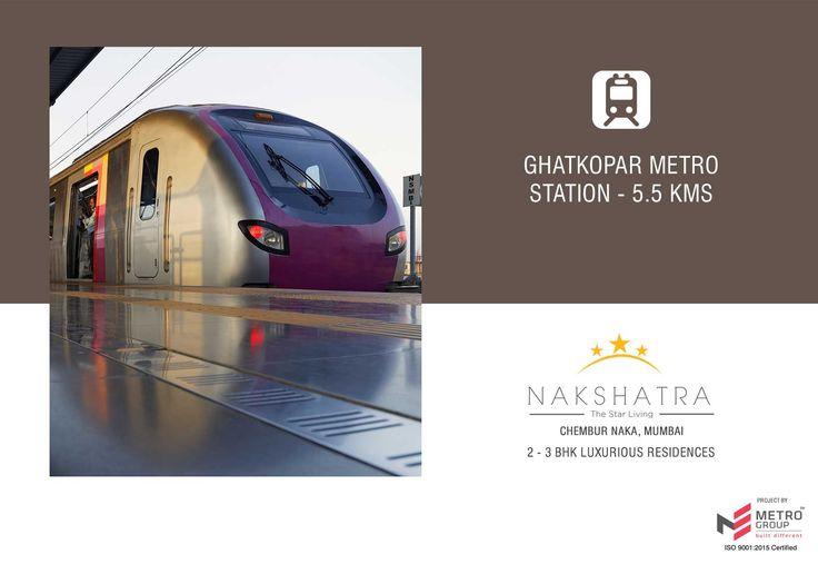 Nakshatra - The Star Living 2 & 3 BHK in the heart of Chembur Ghatkopar Metro Station - 5.5 Kms www.metrogroupindia.com #Nakshatra #RealEstate #MetroGroup #Chembur #Mumbai