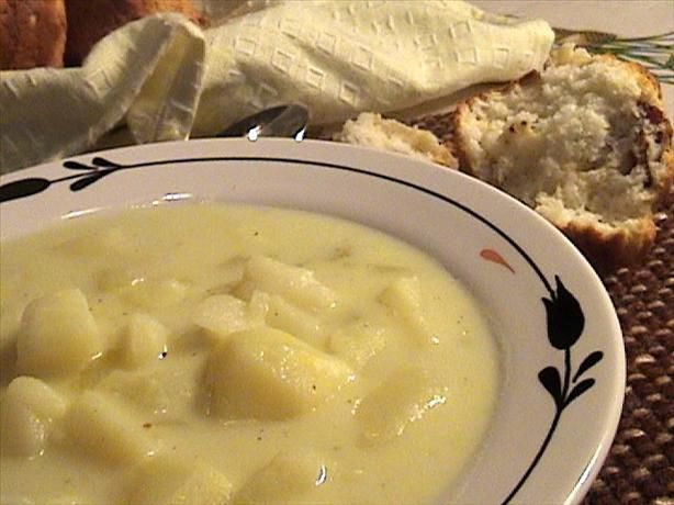 Old Fashioned Potato Soup from Food.com: A rich and creamy soup that is from a great friend of ours. We could eat this once a week during the winter months and is great reheated.