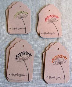 Thank You Gift Tags on Etsy, $5.00