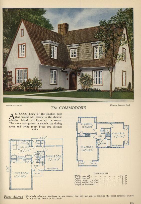 66 Best VINTAGE HOUSE PLANS Images On Pinterest | Vintage Houses, Vintage House  Plans And House Floor Plans