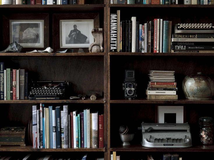 Aspirational bookshelving