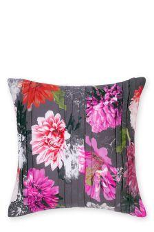 Pernă plisată cu model fotografic floral