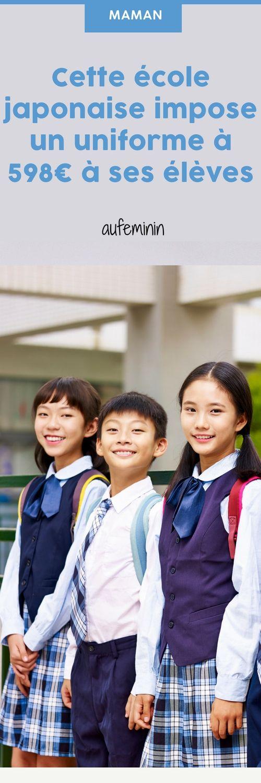Scandale ! Une école japonaise impose un uniforme à 598€ pour ses élèves #aufeminin #école #japon #élèves