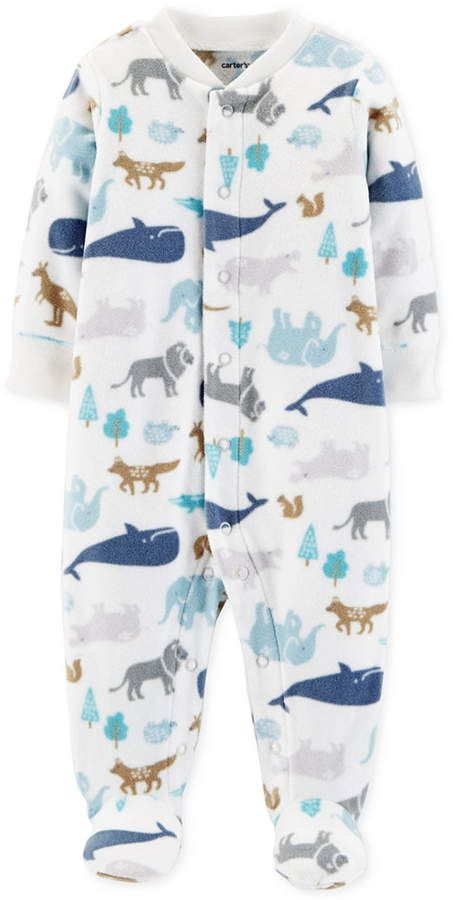ba94f487b414 Carter s Baby Boys Animal-Print Footed Coverall