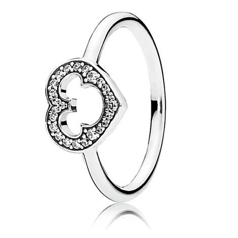 Mickey Mouse Silhouette Ring by PANDORA | Disney Store