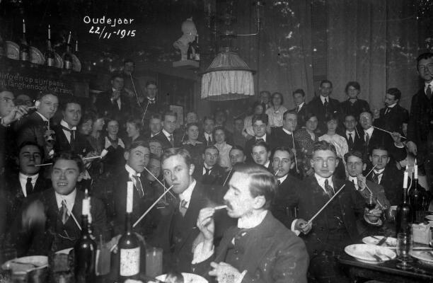 oudejaarsviering utrechtse studentenvereniging 1915