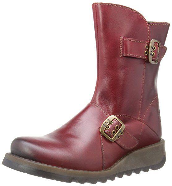 Fly London Seti Rug Women's Biker Boots - Purple, 5 UK (38 EU): Amazon.co.uk: Shoes & Bags