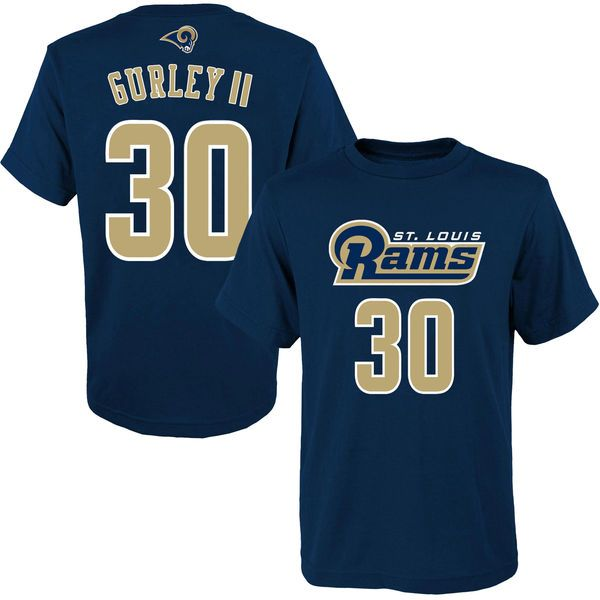Todd Gurley St. Louis Rams Youth 2015 NFL Draft Mainliner Name & Number T-Shirt - Navy - $14.99