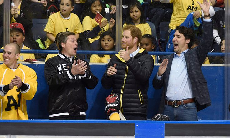 It looks like Canada's national sledge hockey team found new fans in Prince Harry, John Tory (L) and Prime Minister Justin Trudeau. May 2 2016