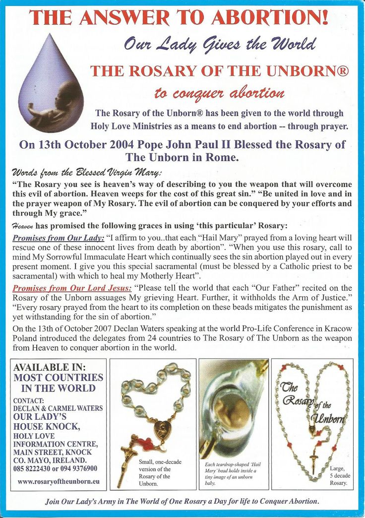 best rosary of the unborn prolife rosary images  mother mary will defeat abortion by her powerful prayer of the rosary of