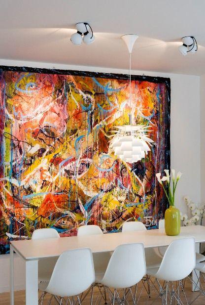 .Modern wall art & dining
