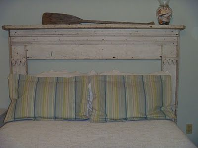 Living Life Southern Style. An old mantle for a headboard