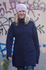 Stortröja i rätstickad alpacka ,Pernilla Svenre