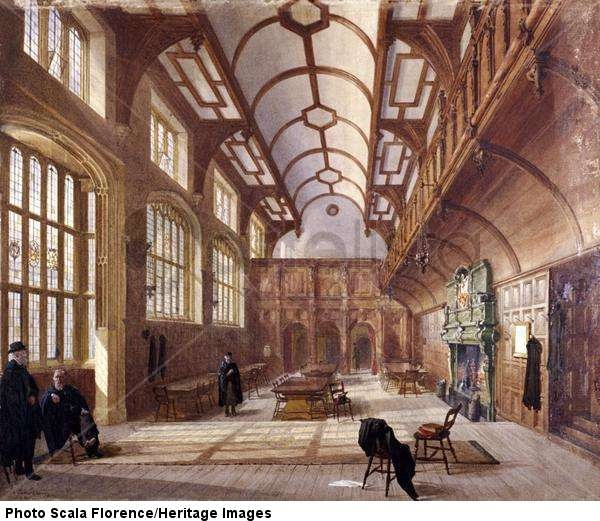 crowther interior of charterhouse london 1885 guildhall library art gallery