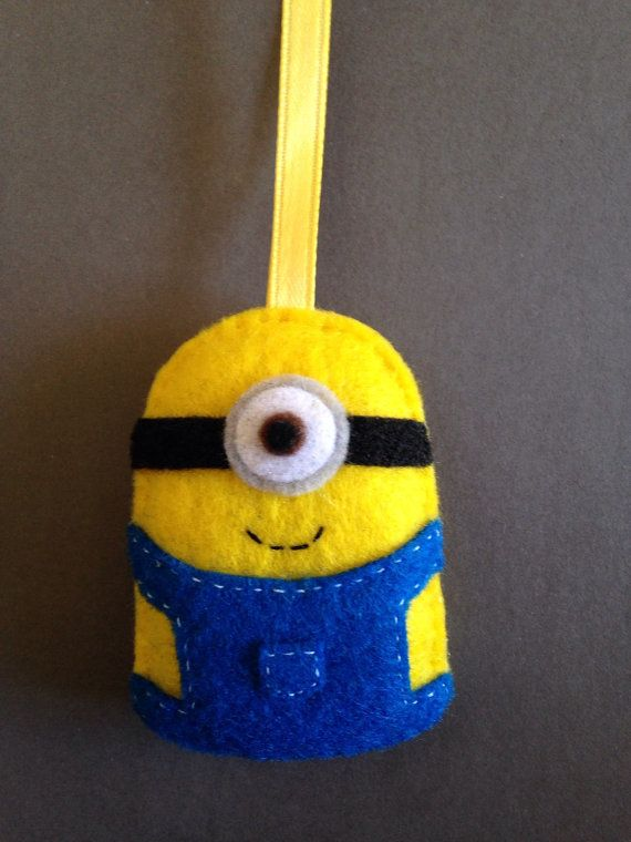This listing is for a handmade, hand-stitched minion ornament or keychain. Every product I offer is made by me personally and comes from