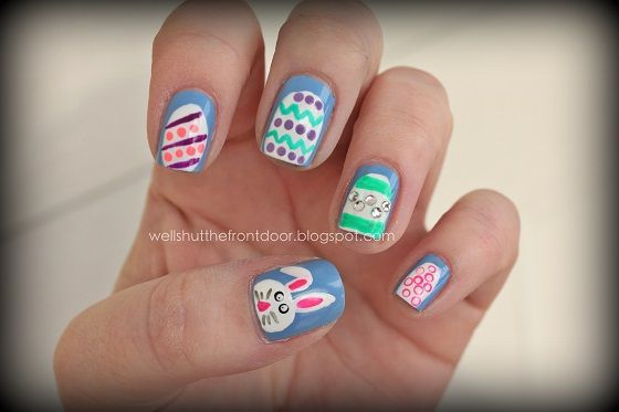 Easter Manicures Nail Treatments  via Shut the front door Blog.  To See all our Magnificent Manicures Including all our Holiday Manicures see: http://stillblondeafteralltheseyears.com/category/manicures/  #manicures #HolidayManicures #Easter