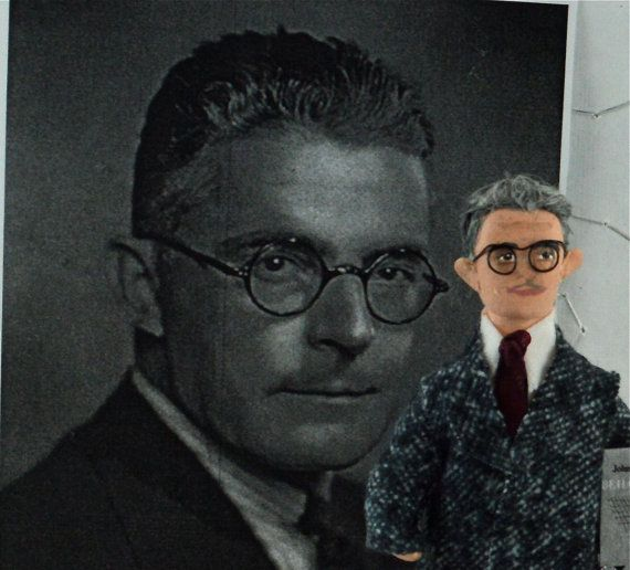 John B. Watson Behaviorism Psychology Doll Art by UneekDollDesigns