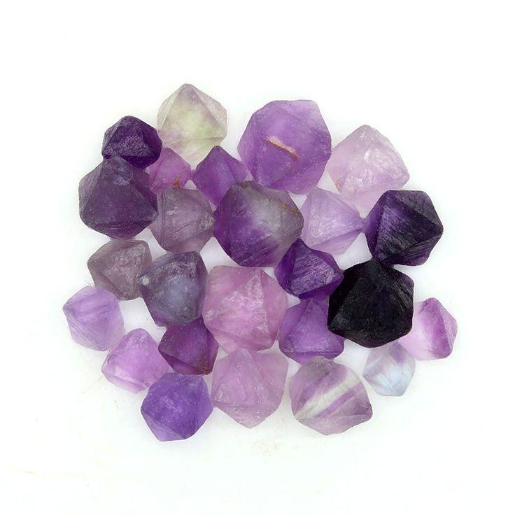 25 Small Octagonal Purple Fluorite Crystals - 47g