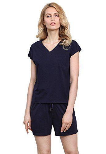 8c13670e4c Vislivin Women s Cotton Pajamas Short Sleeve Pajama Set V-Neck Sleepwear