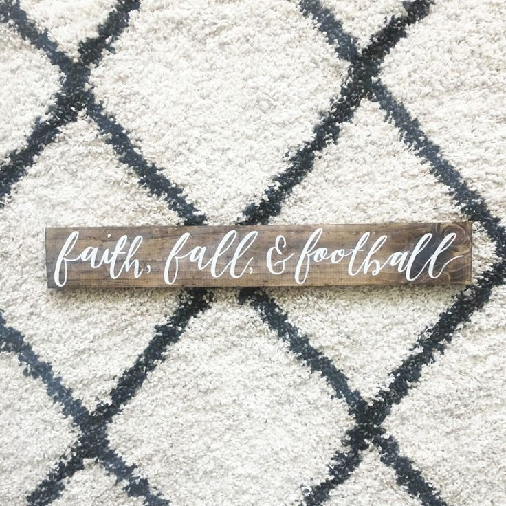 Fall forever! You need this in your home!  https://www.etsy.com/listing/476064653/faith-fall-football-wood-sign-o-rustic
